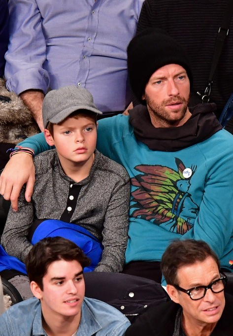Chris Martin & his son Moses