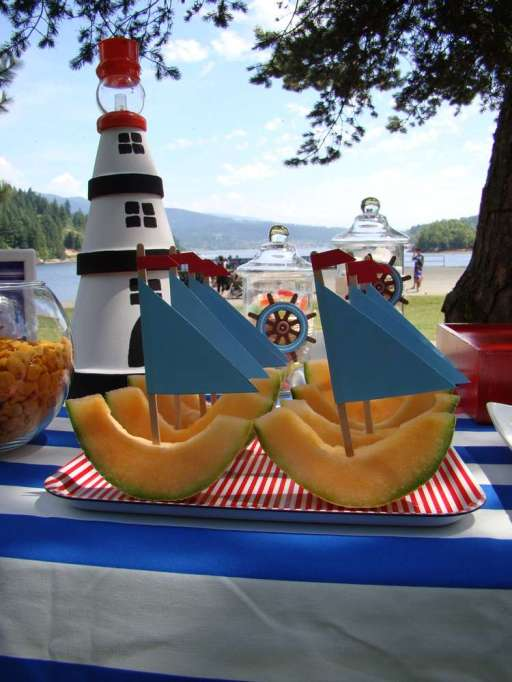 Cantaloupe sailboats