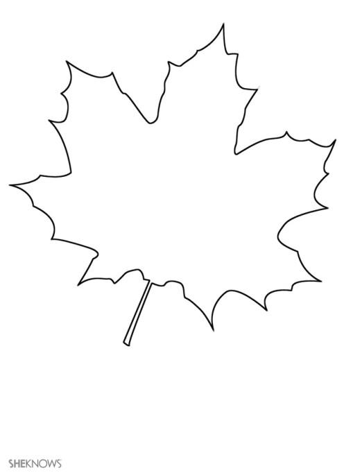 Craft template design leaf