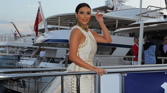 Kim Kardashian flaunts her boobs and