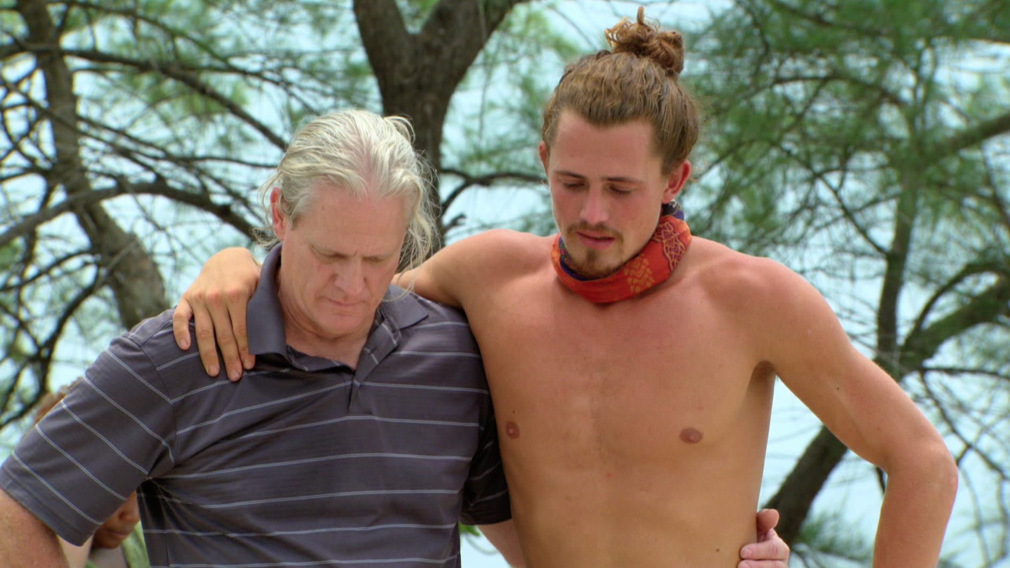 Joe Anglim with his dad during the loved ones visit on Survivor: Second Chance