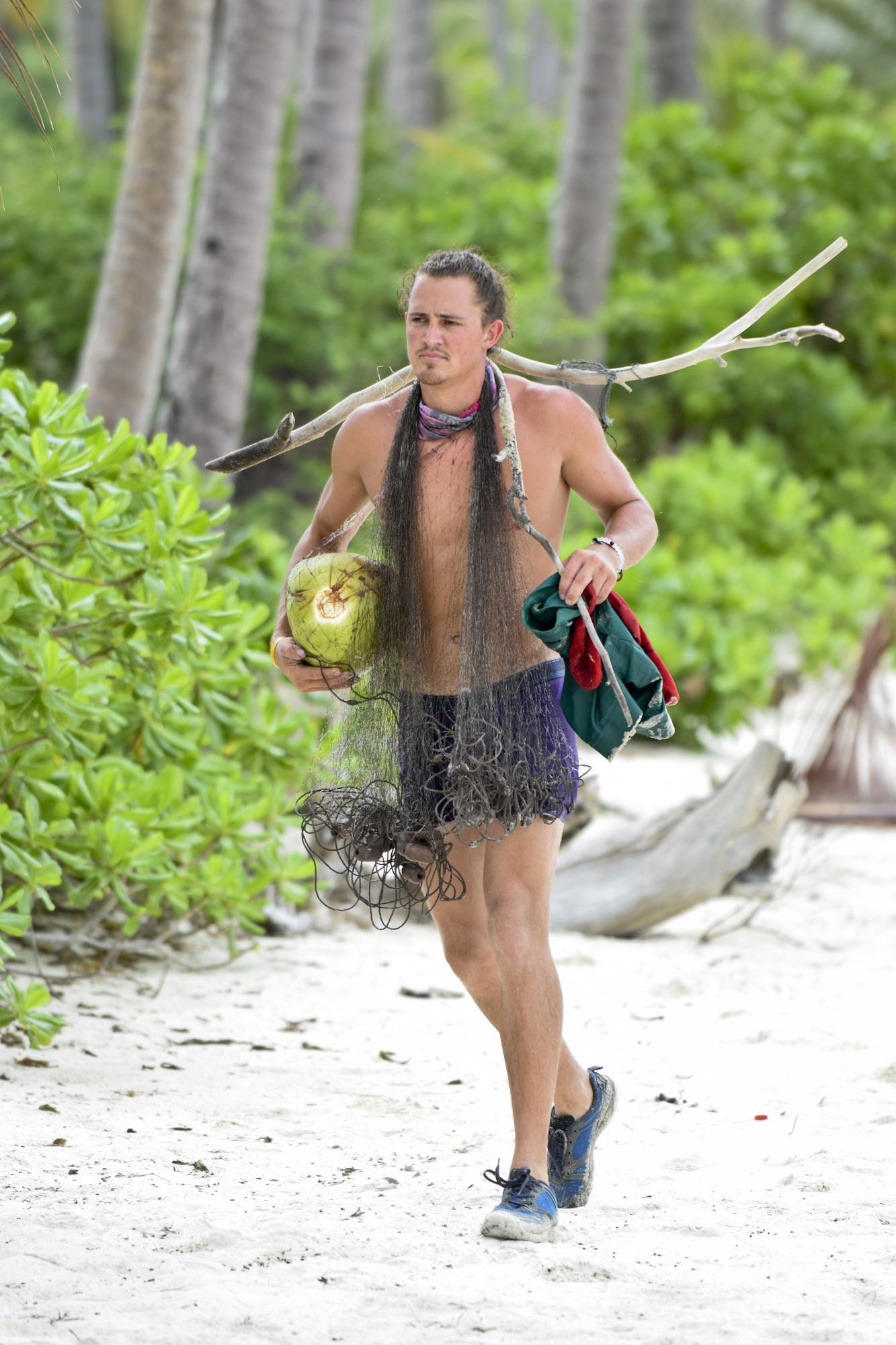 Joe Anglim at Bayon tribe camp Survivor: Second Chance
