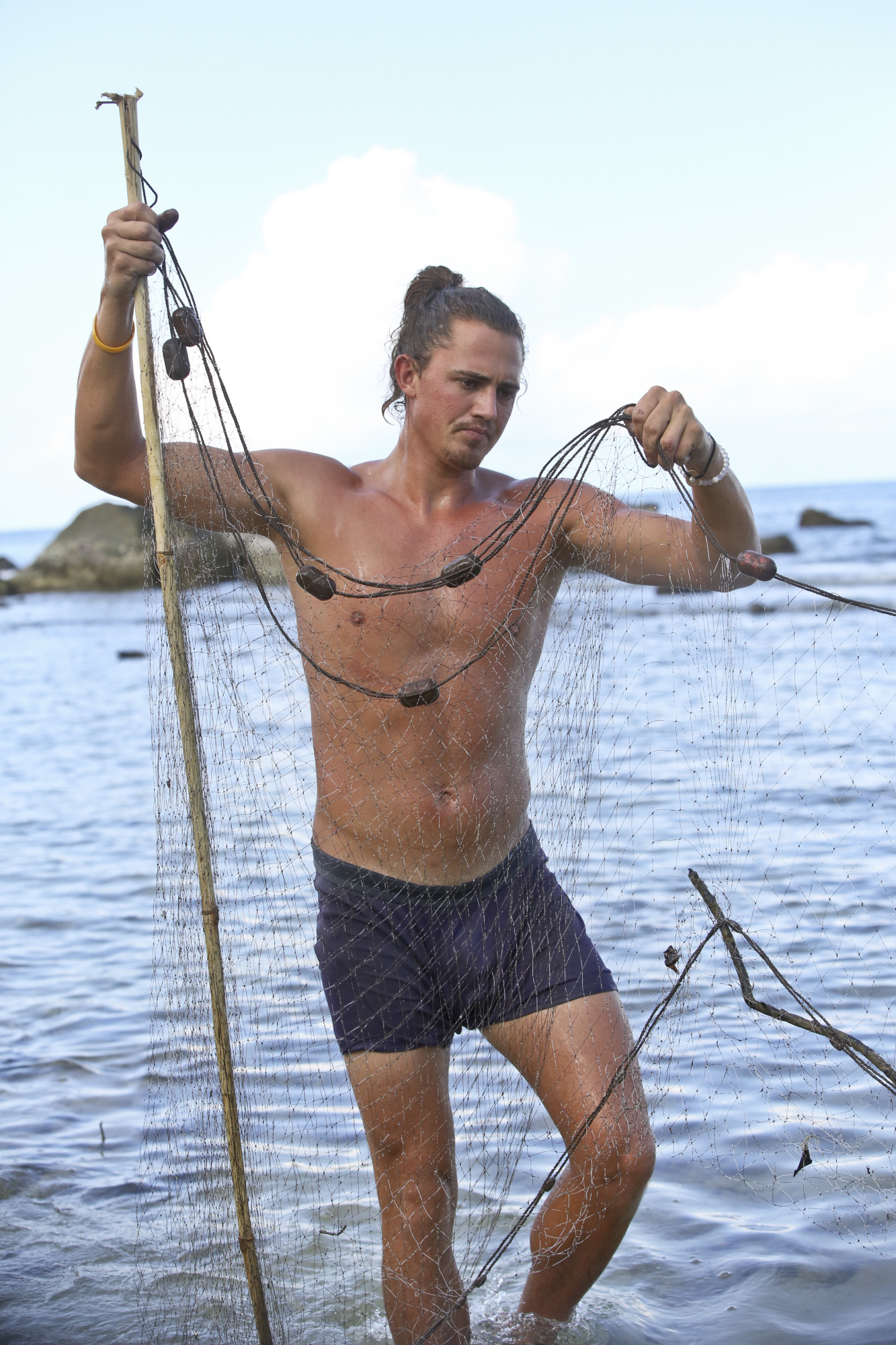 Joe Anglim goes fishing on Survivor: Second Chance