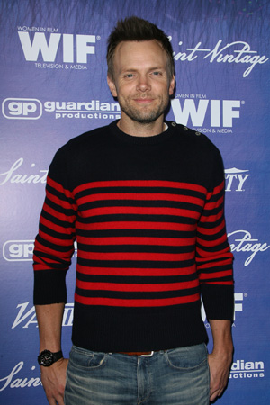 Joel McHale at an Emmys party