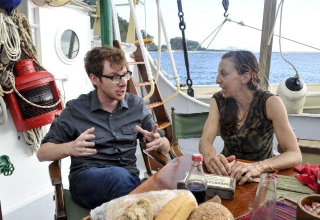 John Cochran visits Debbie Wanner on Survivor: Game Changers