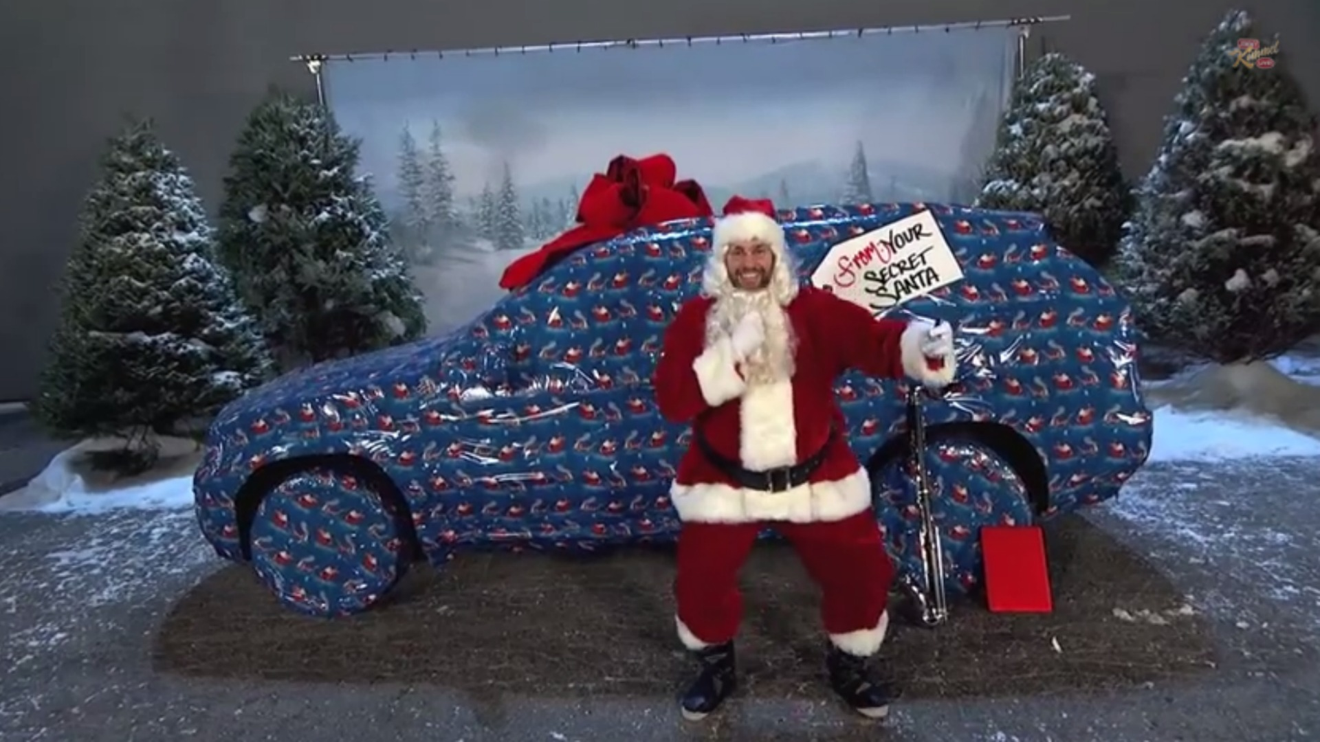 Jimmy Kimmel and John Krasinski holiday tradition pranks