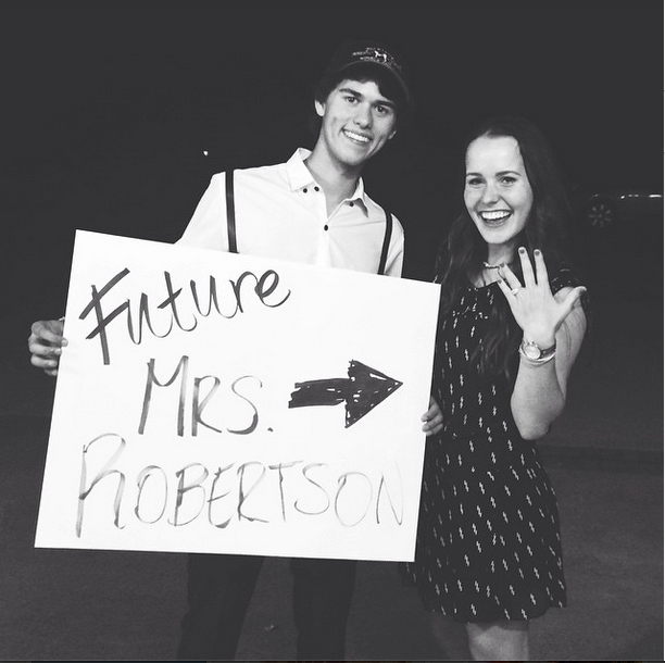 Mary Kate McEacharn shares a picture of her engagement to John Luke Robertson
