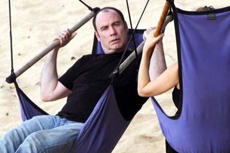 John Travolta sans hairpiece!