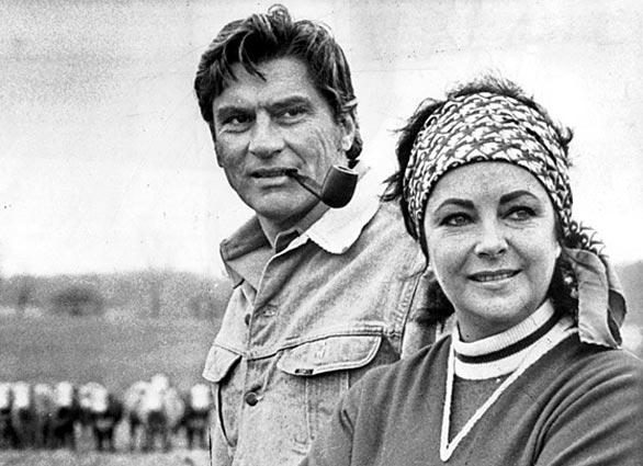 Elizabeth Taylor and husband John Warner