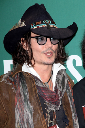 Johnny Depp at a press conference