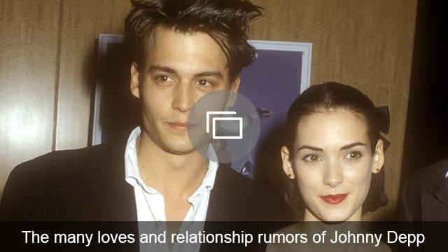 Johnny Depp relationships & rumors slideshow