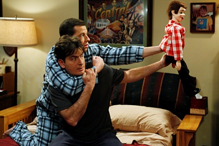 Charlie Sheen and Jon Cryer in Two and a Half Men