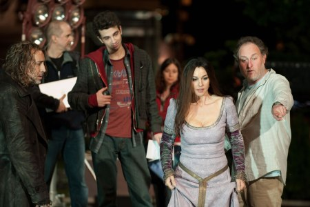 Jon directs his cast on the set of Sorcerer's Apprentice