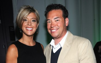 Jon and Kate of Jon and Kate Plus 8 in happier times