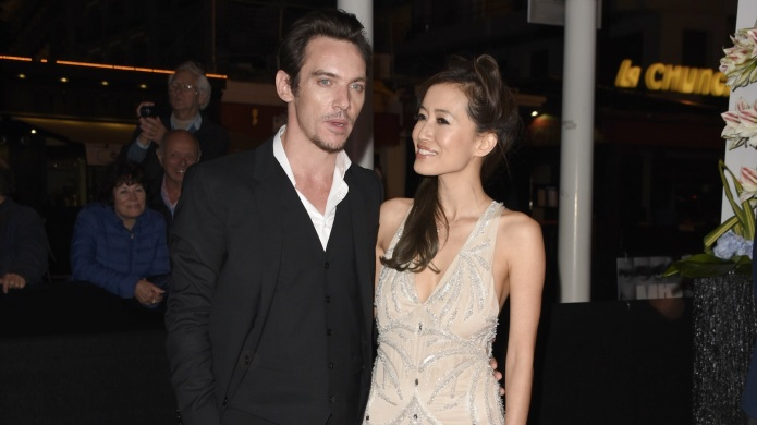 Jonathan Rhys Meyers arrives with girlfriend