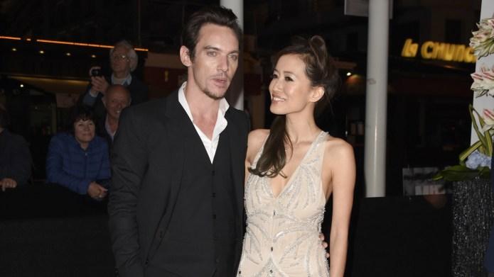 Jonathan Rhys Meyers arrives with girlfriend