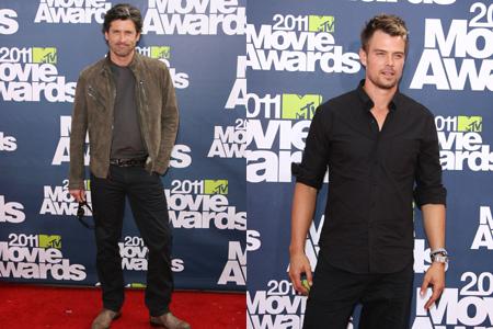 Patrick Dempsey and Josh Duhamel at MTV movie awards