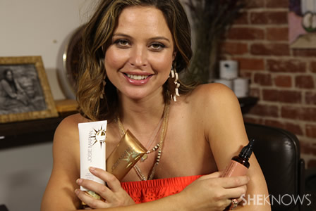 Josie Maran shows off her argan oil products and cosmetics line