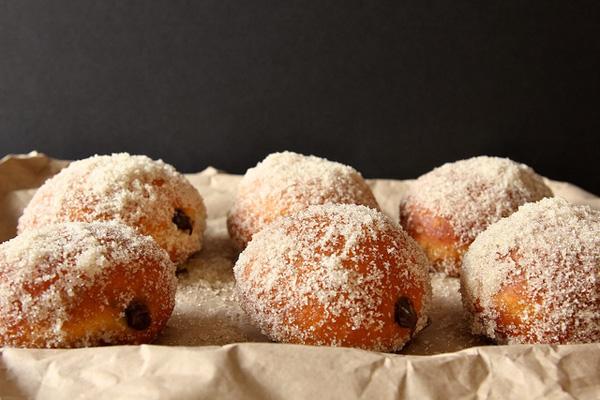 Joy the Baker -- chocolate cream filled vanilla donut