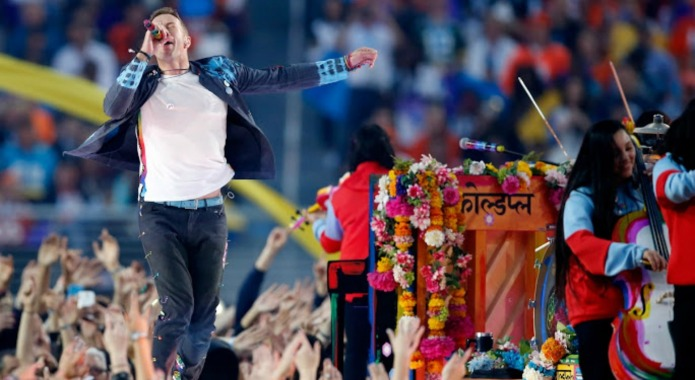 The small detail during Coldplay's halftime