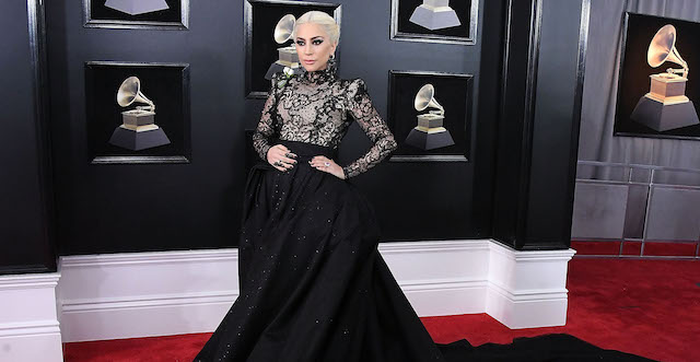 Lady Gaga arrives at the 60th Annual Grammy Awards