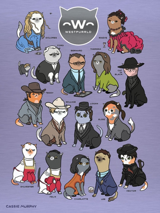 Quirkiest Gifts from Your Favorite Pop Culture Shows: 'Westworld' cats print
