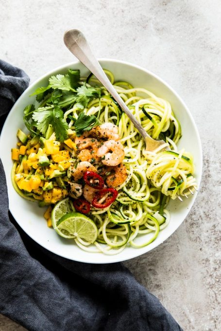 Low-carb summer lunches | healthy summer recipes | zoodles with shrimp