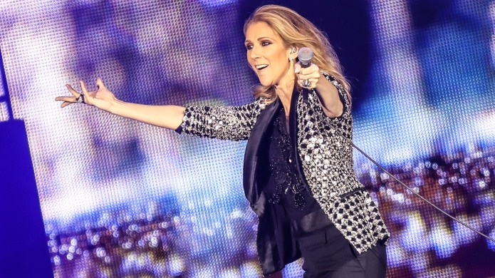 Celine Dion performs at Allianz Riviera