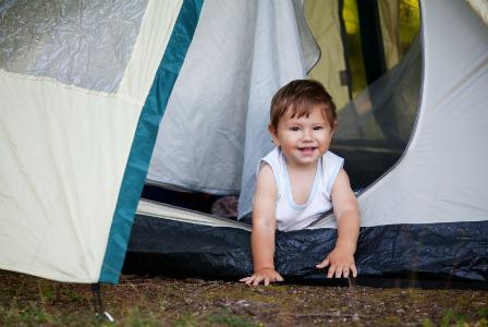 Baby-friendly camping guide