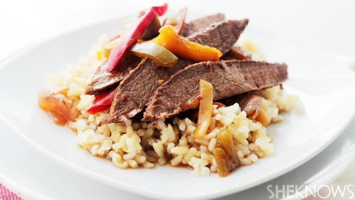 Hearty slow cooker beef stir fry