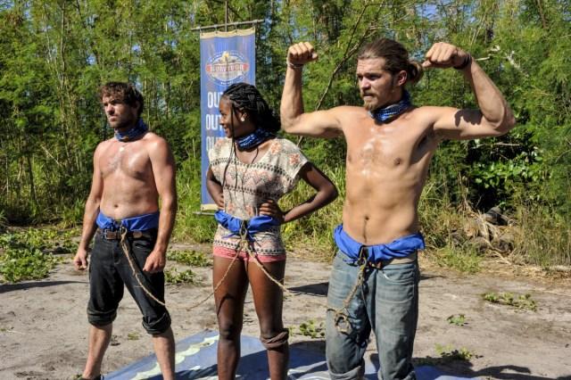 JT Thomas, Michaela Bradshaw and Malcolm Freberg on Survivor: Game Changers