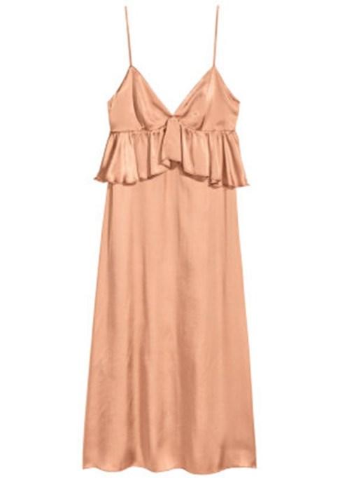 Summer Cocktail Dresses That Are Versatile: H&M V-Neck Satin Dress | Summer Fashion 2017