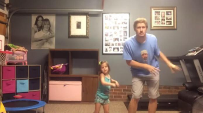 Adorbs! Daddy-daughter duo take on Taylor
