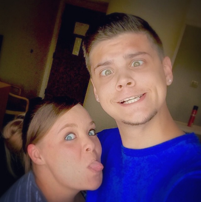 Tyler Baltierra and Catelynn Lowell being silly