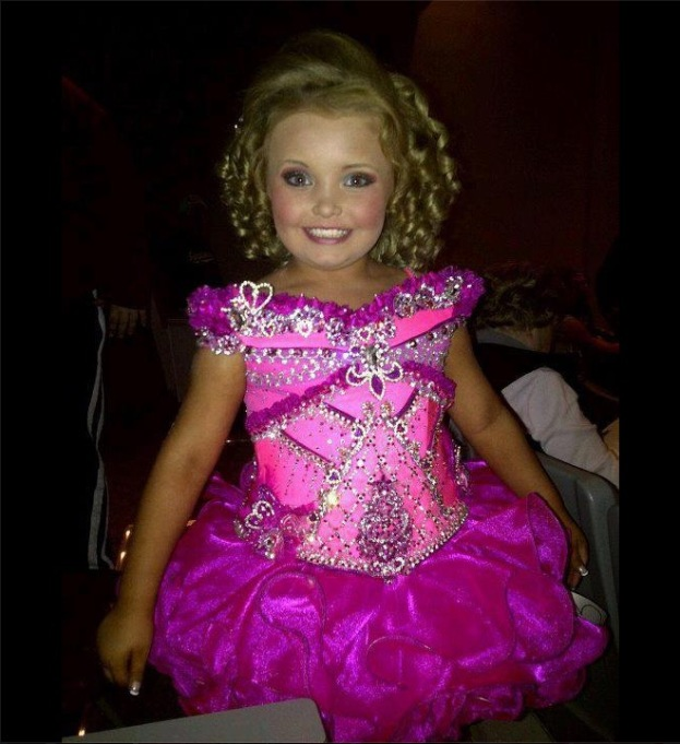 Honey Boo Boo in a pageant gown in August of 2012