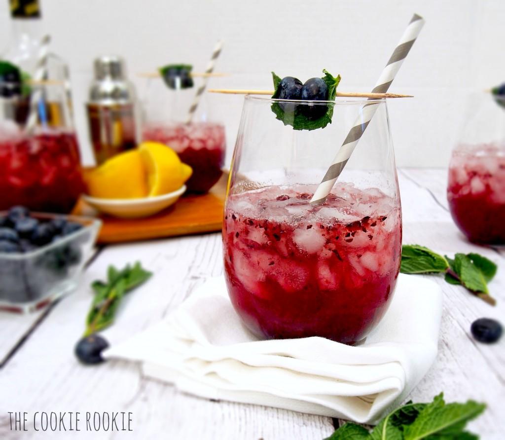 Blueberry honey mint julep