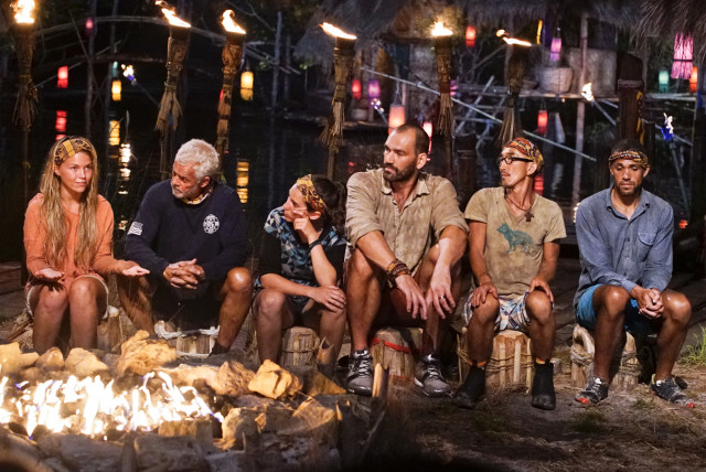 Gondol tribe at Tribal Council on Survivor: Kaoh Rong