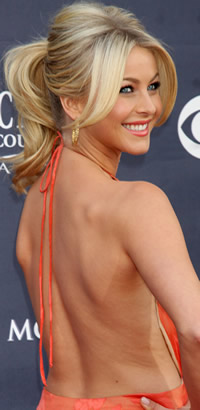 Julianne Hough ponytail hairstyle