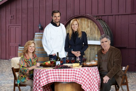 Julie Benz and the cast of Hallmark's Uncorked