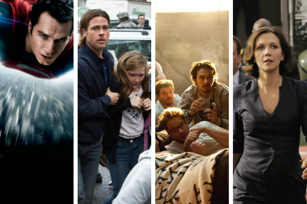 Man of Steel, World War Z, This is the End, White House Down