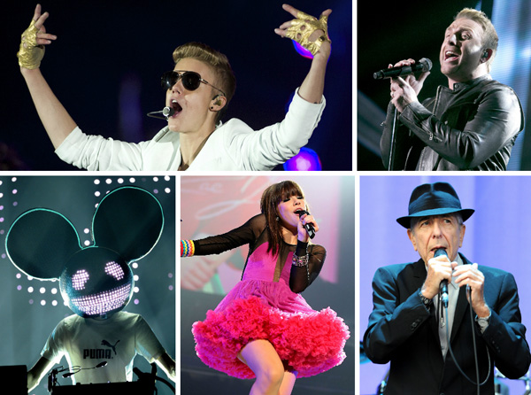 Juno Artist of the Year 2013 nominees