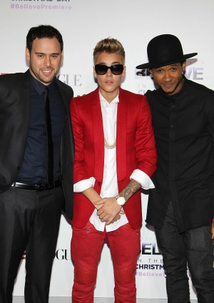 Scooter Braun Justin Bieber Usher