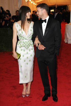 Jessica Biel and Justin Timberlake at the 2012 Costume Institute Gala