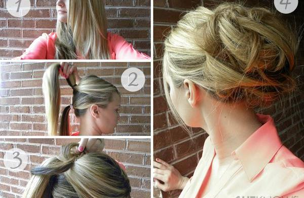 The perfect updo for rainy day