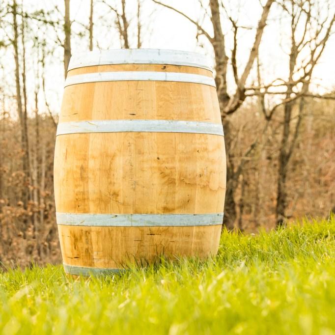 59-Gallon Natural Wood Rain Barrel