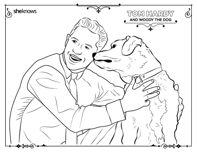Tom Hardy coloring-book page