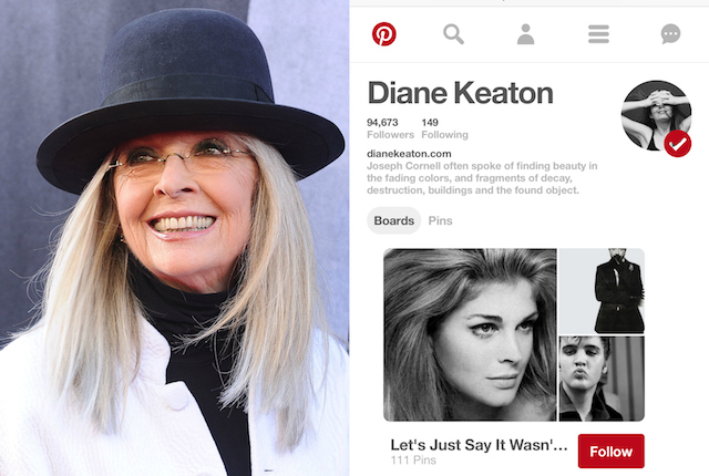 Celebs on Pinterest: Diane Keaton