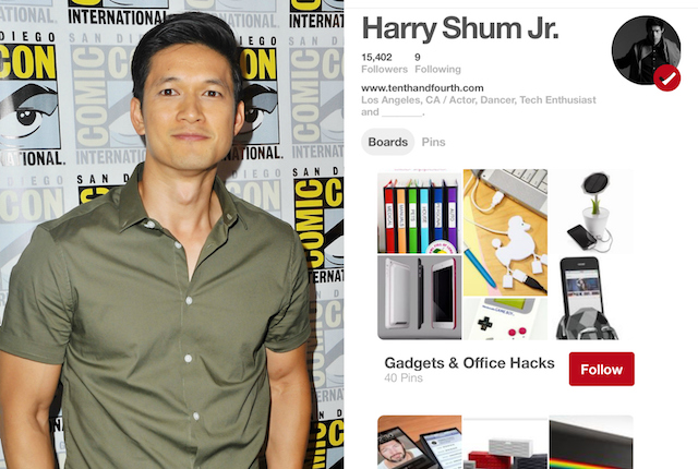 Celebs on Pinterest: Harry Shum Jr.