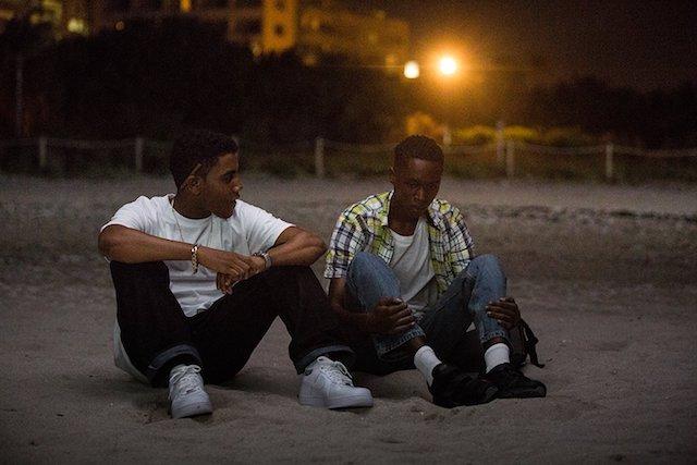 Still of Ashton Sanders and Jharrel Jerome in 'Moonlight'