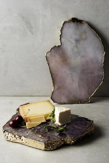 Wedding gifts under $100: agate stone cheese board.